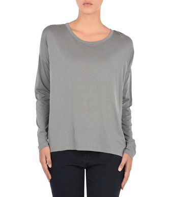 NAPAPIJRI SIRA WOMAN LONG SLEEVE T-SHIRT,GREY