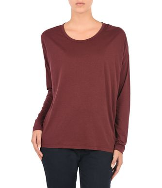 NAPAPIJRI SIRA WOMAN LONG SLEEVE T-SHIRT,MAROON