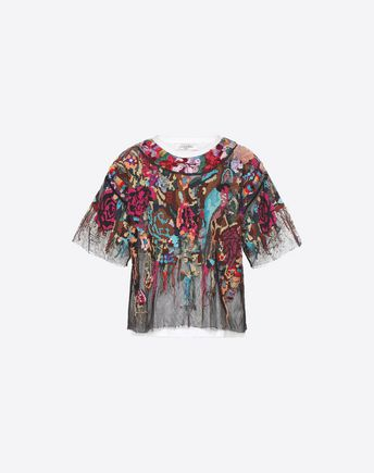 VALENTINO T-shirt Couture D T-shirt Valentino Waves f
