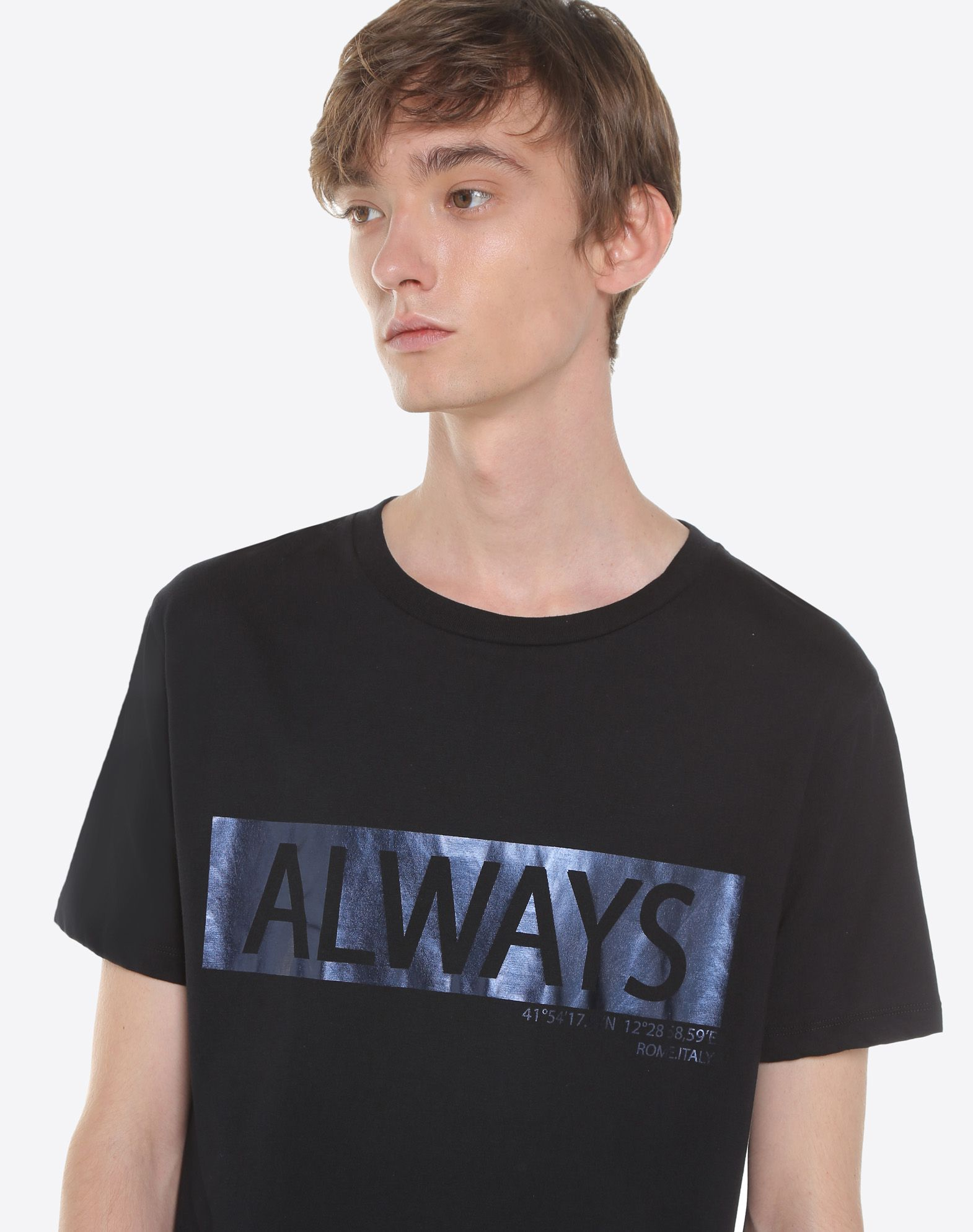 Valentino T Shirt With Always Lettering, t Shirts for Men ...