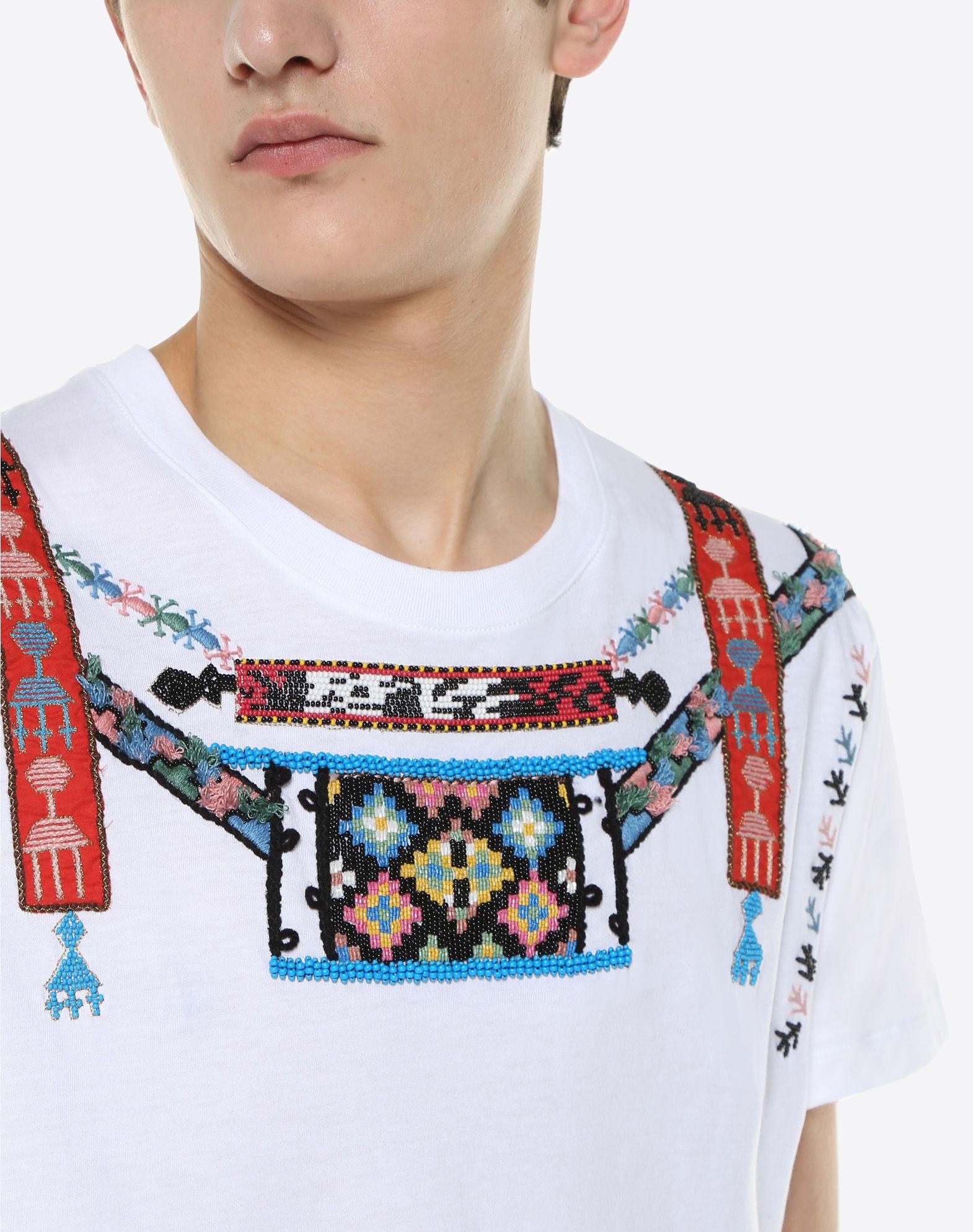 VALENTINO T-shirt with geometric embroidery T-shirt U a