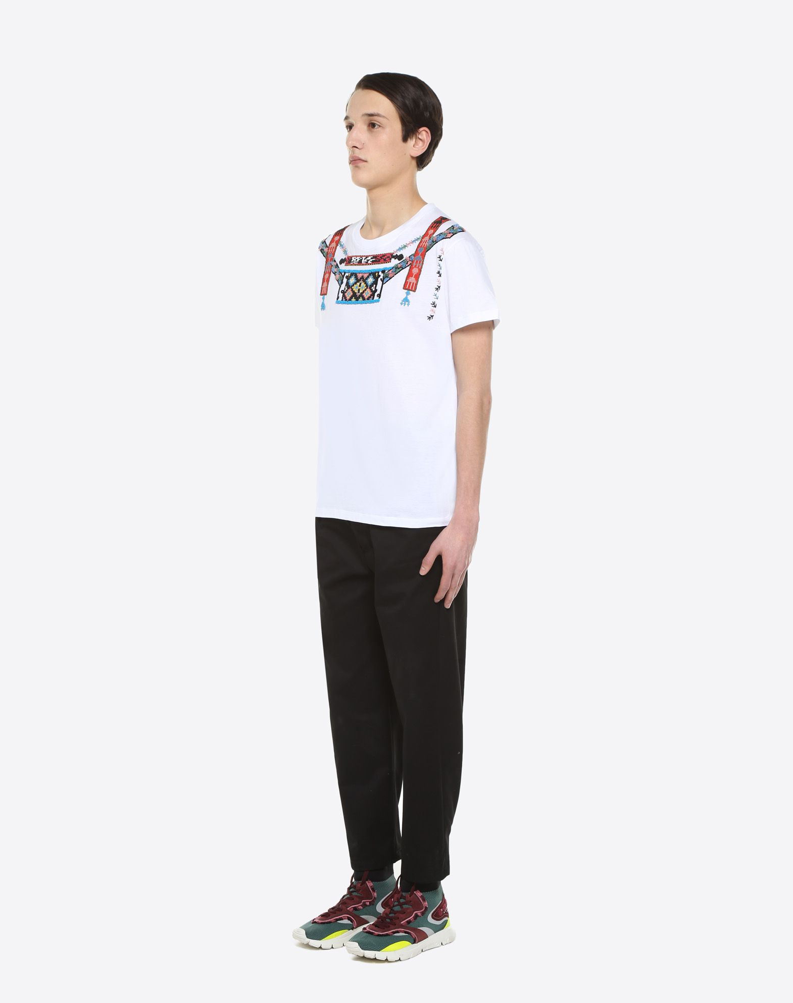VALENTINO T-shirt with geometric embroidery T-shirt U d