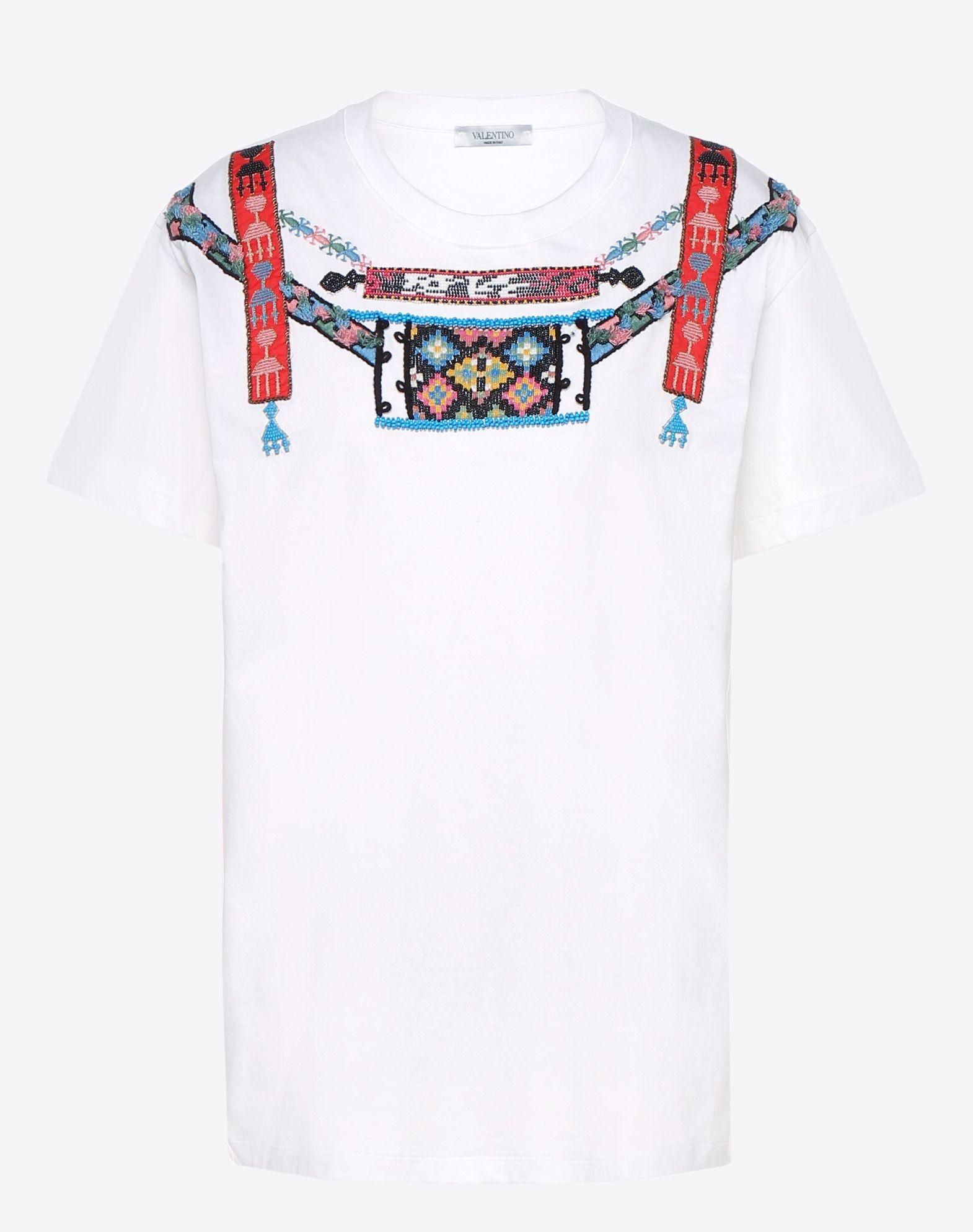 VALENTINO T-shirt with geometric embroidery T-shirt U f