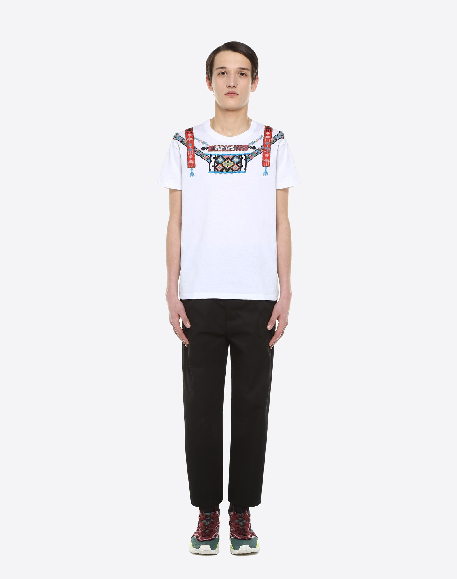 VALENTINO T-shirt with geometric embroidery T-shirt U r
