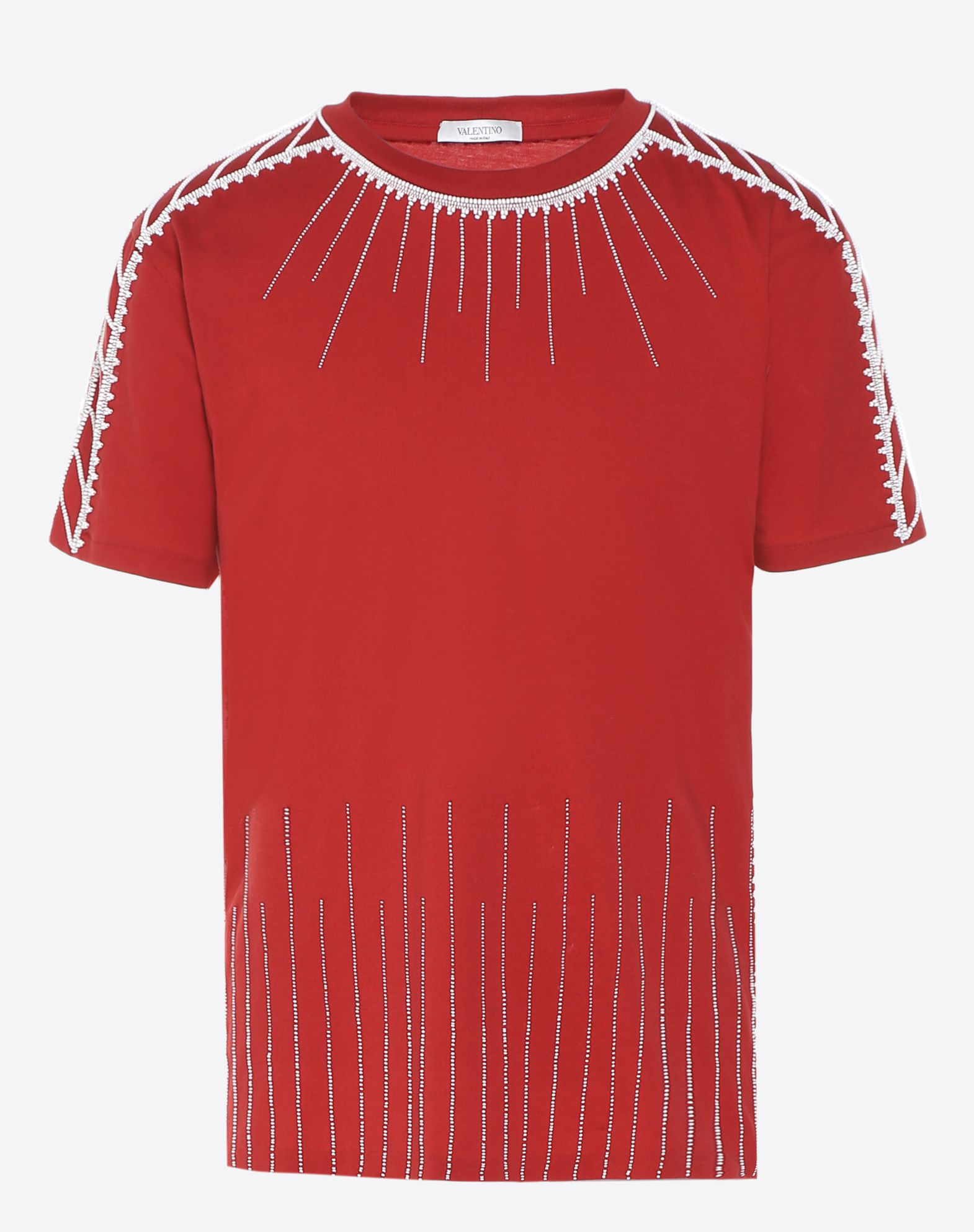 VALENTINO T-shirt with stitching and beads T-shirt U f
