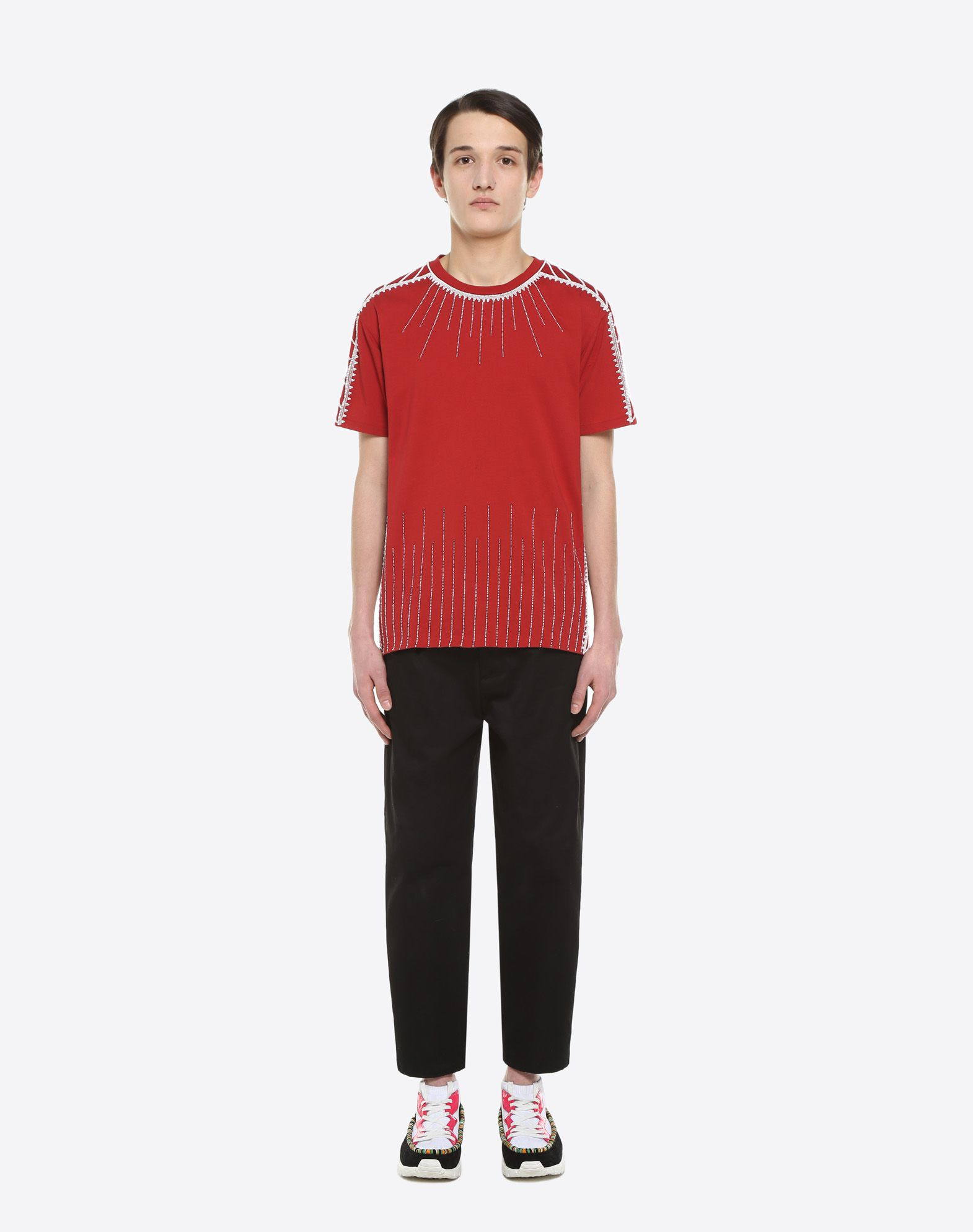 VALENTINO T-shirt with stitching and beads T-shirt U r