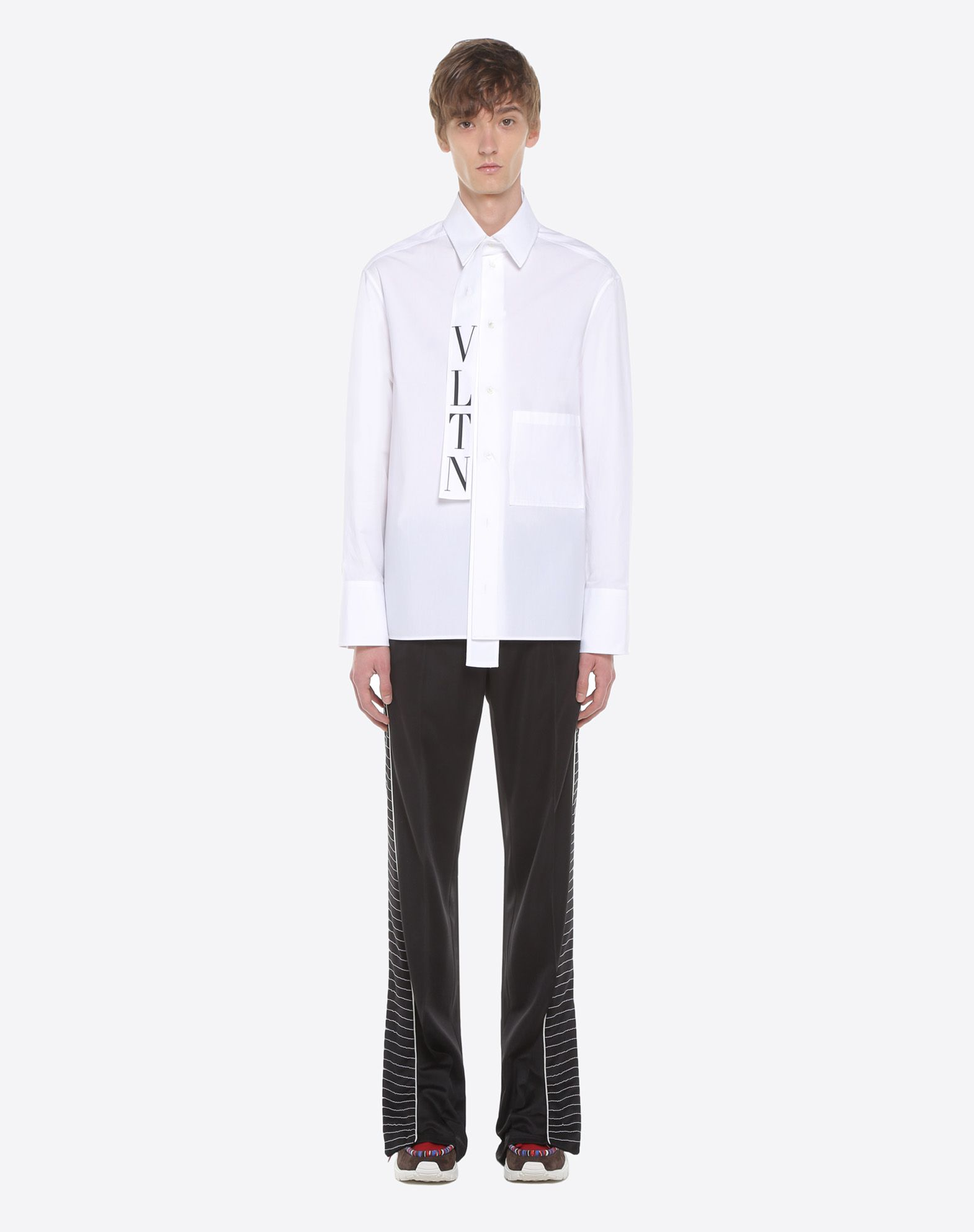 VALENTINO VLTN shirt with tie collar Shirt U r