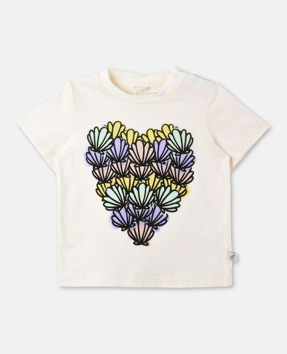 T-shirt Chuckle avec imprimé cœur de coquillages