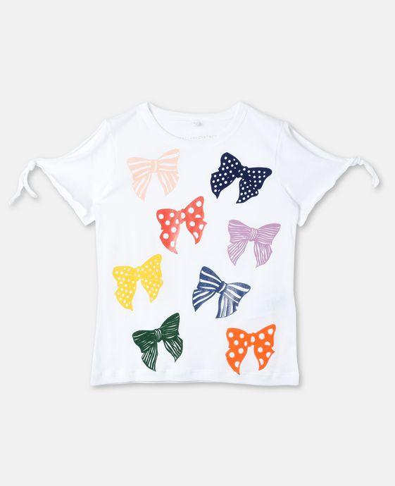 Dorine Bow Print T-shirt