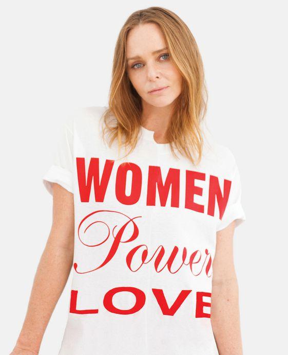 STELLA McCARTNEY T-shirt powered by women T-Shirts D h