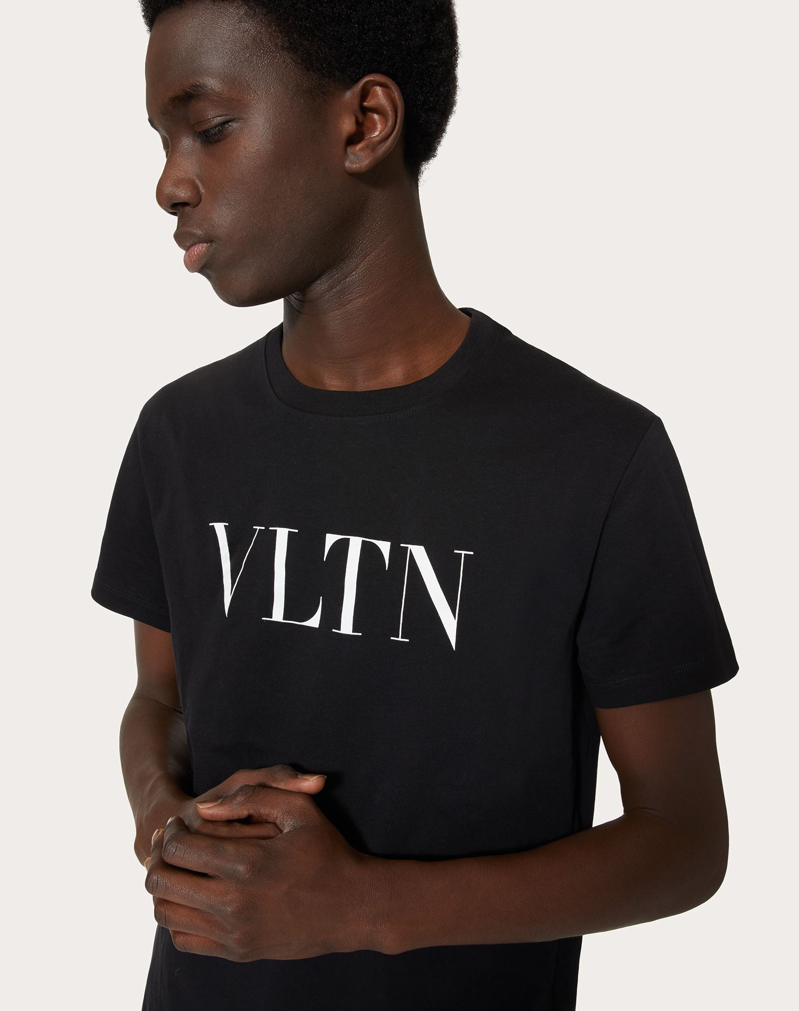 Valentino vlnt print cotton jersey t shirt in black modesens for T shirt printing in nj