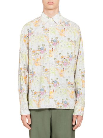 Marni Shirt in cotton with print by Magdalena Suarez Frimkess Man