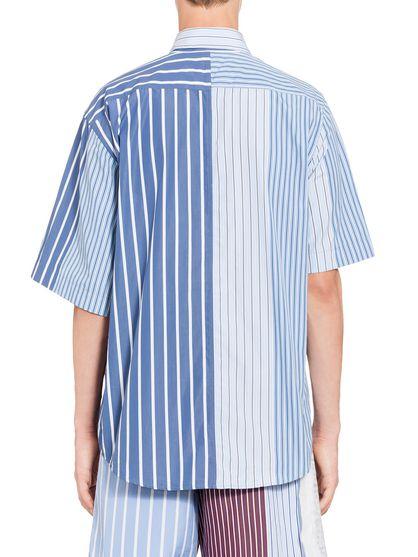 2926d425ca MARNI Camiseta de manga corta Hombre Camisa patchwork de algodón de rayas f