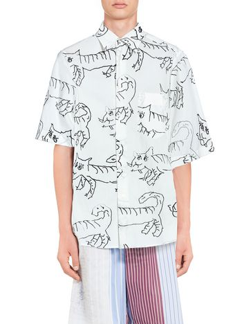 Marni Cotton shirt print by Madgalena Suarez Frimkess Man