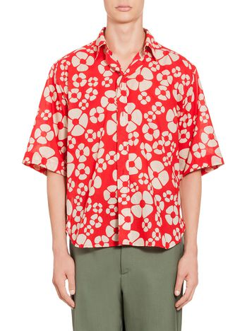 Marni Embossed shirt in voile Woodstock print Man