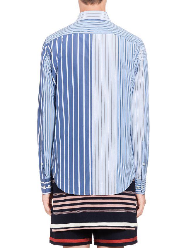 2e1dbf9047 Marni Camisa patchwork de algodón de rayas Hombre