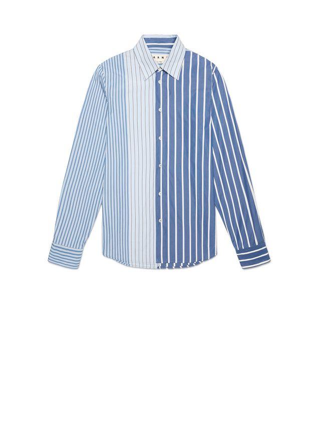 1c85bdc6e1 MARNI Camiseta de manga larga Hombre Camisa patchwork de algodón de rayas e