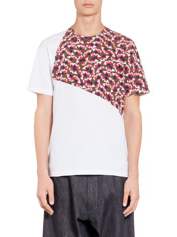 Marni T-shirt in compact jersey with front print Man