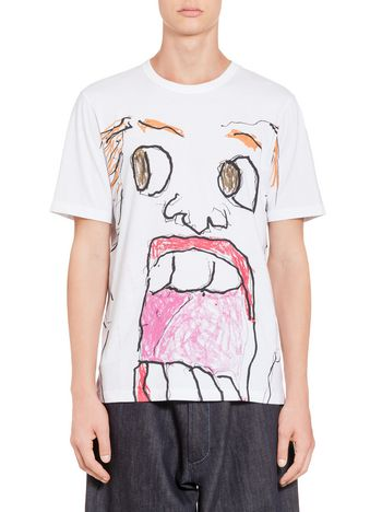 Marni T-shirt with print by Magdalena Suarez Frimkess in jersey Man