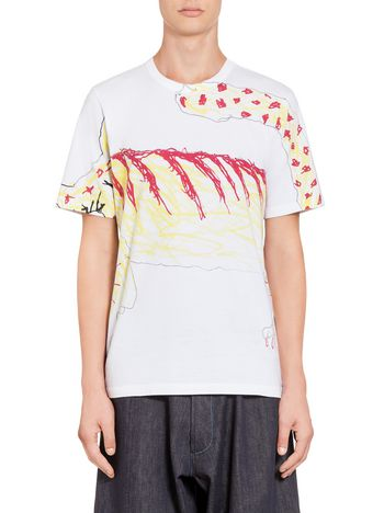 Marni T-shirt in jersey Madgalena Suarez Frimkess  Uomo