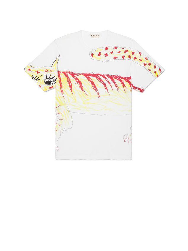 5c37ed63063 MARNI Short Sleeve T-Shirt Man T-shirt in jersey with Magdalena Suarez  Frimkess