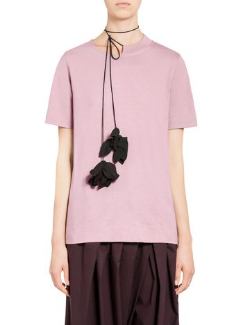 Marni Jersey T-shirt with flower Woman