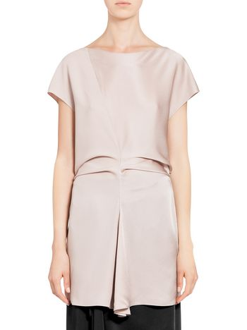 Marni top in satin envers crepe Woman