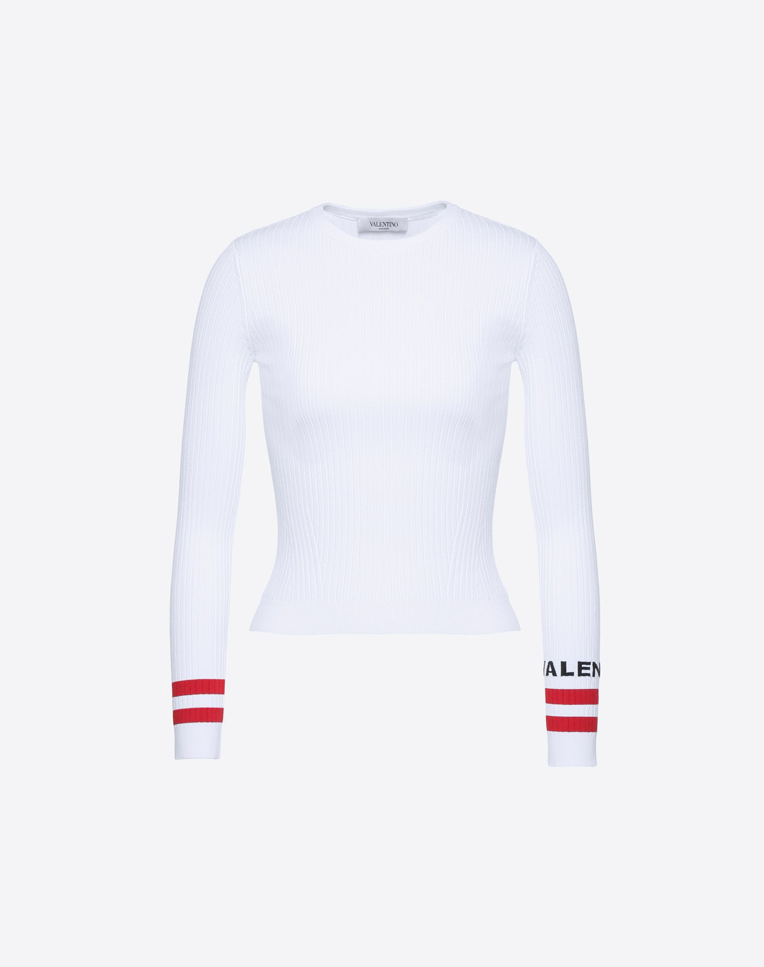 Sweater for Women Jumper On Sale, Red Valentino, Grey, Wool, 2017, 12 Valentino