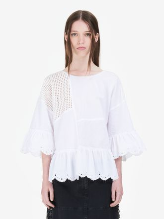 Cut-Up Broderie Anglaise Top