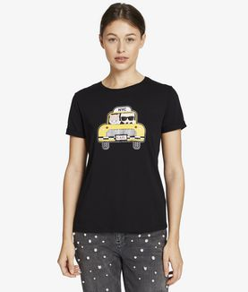 KARL LAGERFELD KARL & CHOUPETTE NYC TAXI T-SHIRT