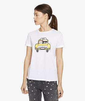 KARL LAGERFELD KARL & CHOUPETTE NYC TAXI TEE