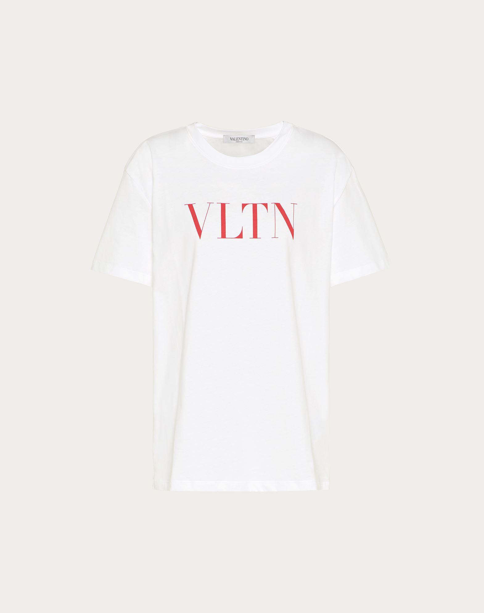 VALENTINO Print Logo Jersey Solid color Round collar Short sleeves  12108234ke