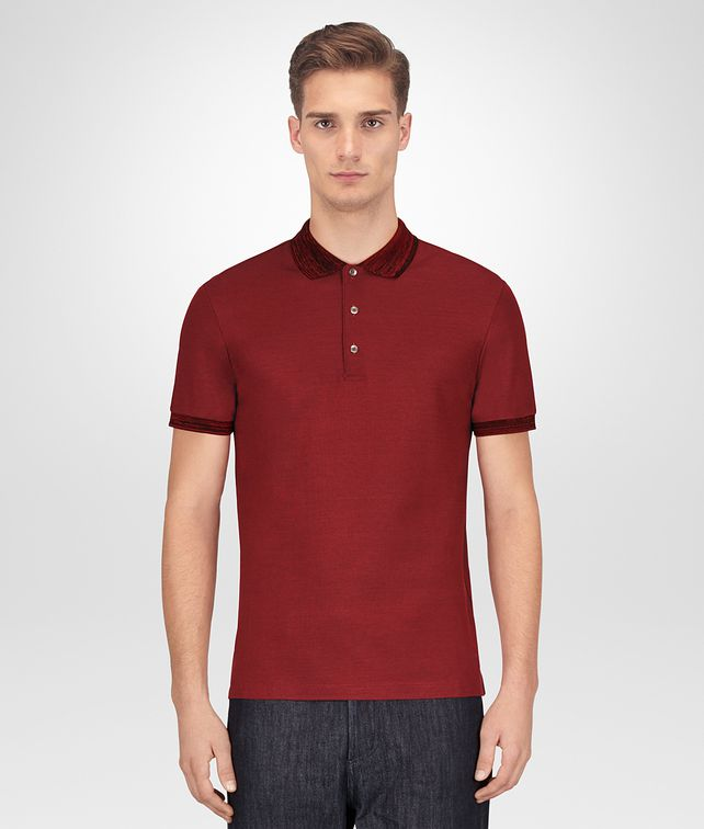 BOTTEGA VENETA GIGOLO RED COTTON POLO Polo And Tee [*** pickupInStoreShippingNotGuaranteed_info ***] fp