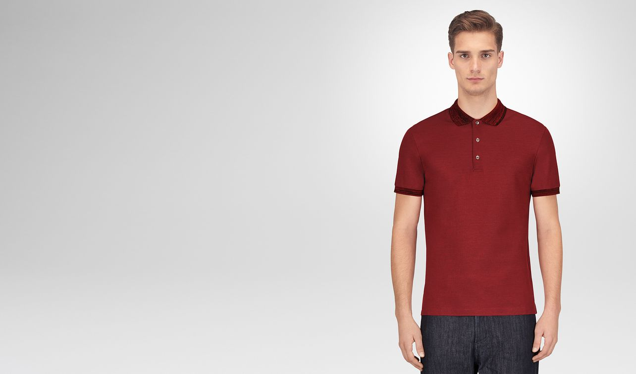 gigolo red cotton polo landing