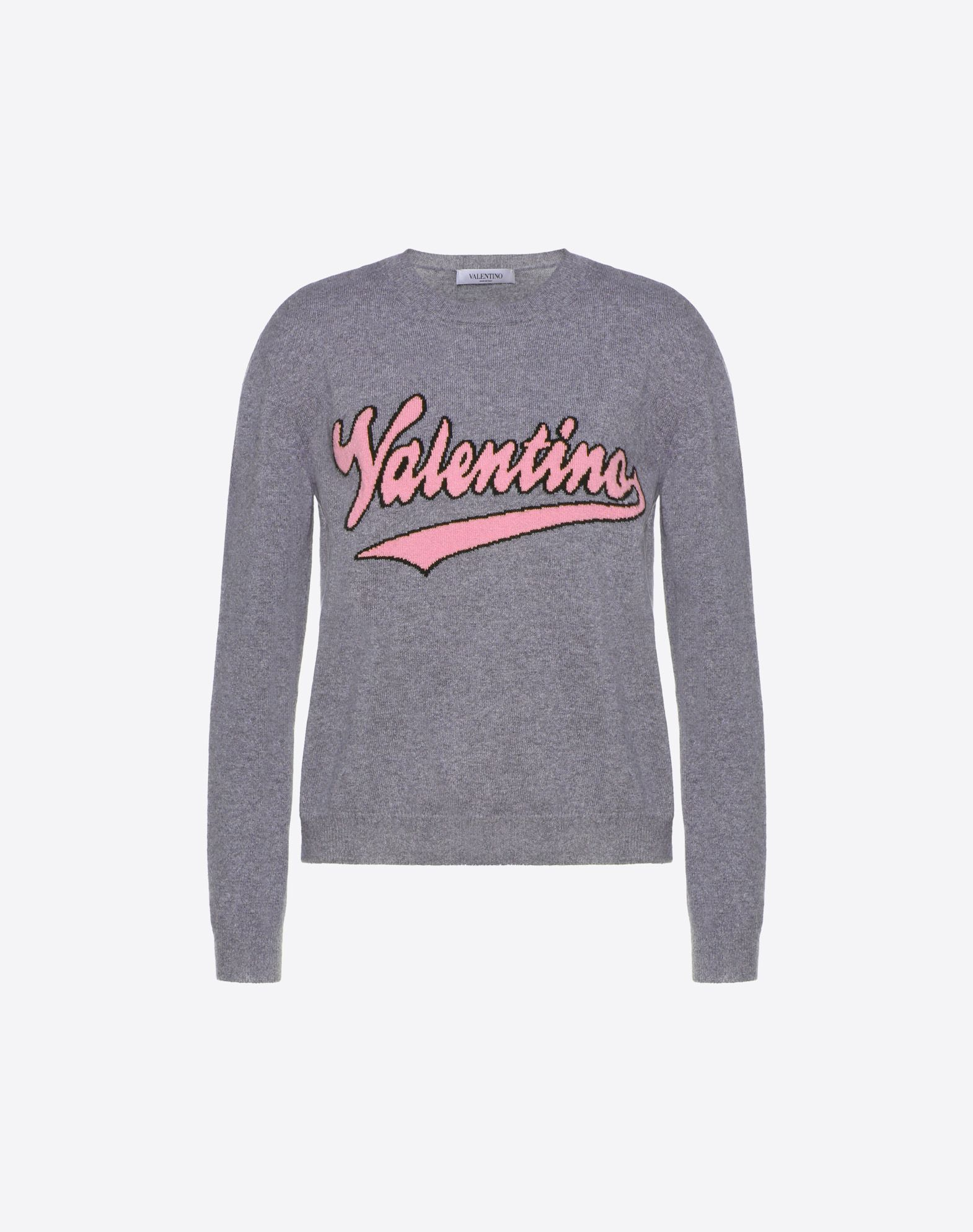 VALENTINO Knitted Logo Lightweight sweater Basic solid color Round collar Long sleeves  12111057jv