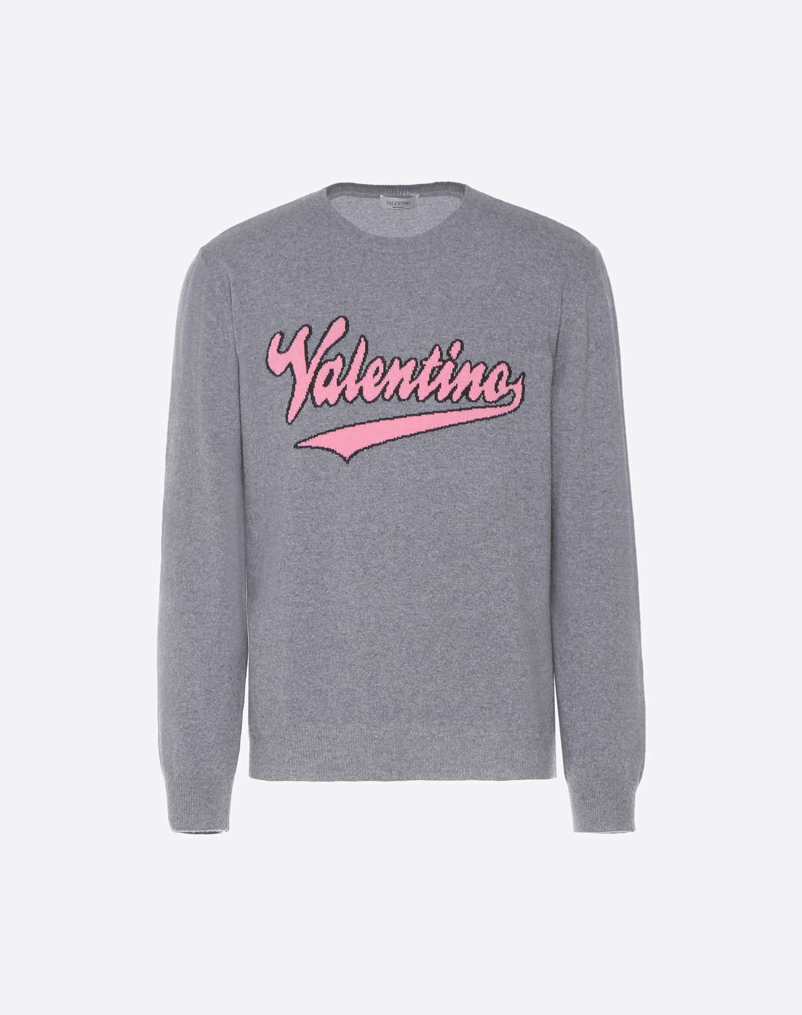 VALENTINO Knitted Logo Lightweight sweater Long sleeves Basic solid color Round collar  12111058lm