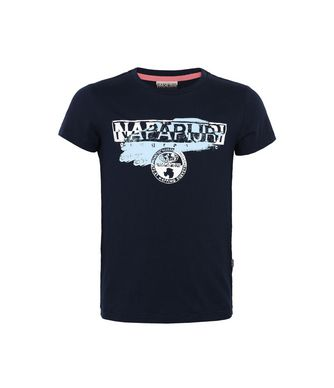 NAPAPIJRI K HADO KID KID SHORT SLEEVE T-SHIRT,DARK BLUE