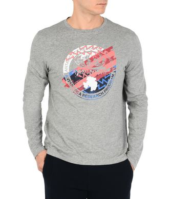 NAPAPIJRI SAT MAN LONG SLEEVE T-SHIRT,GREY