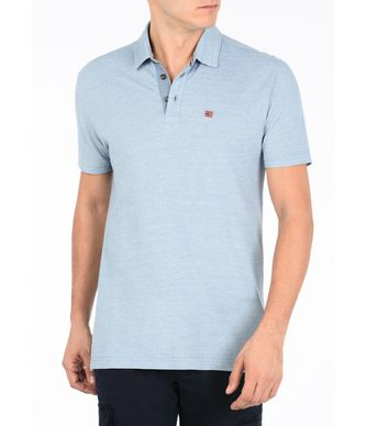 NAPAPIJRI EBITO MAN SHORT SLEEVE POLO,SKY BLUE