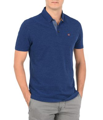NAPAPIJRI EBITO MAN SHORT SLEEVE POLO,DARK BLUE