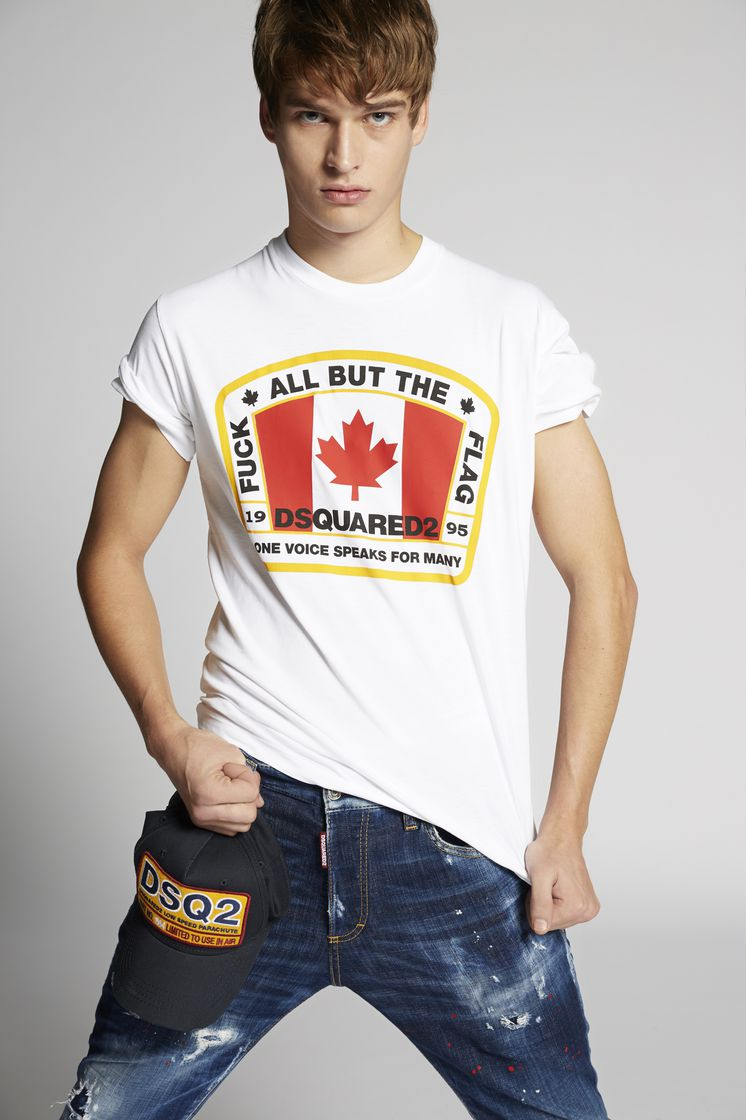 DSQUARED2 D2 Canadian Flag T-Shirt Kurzärmliges T-Shirt Herren 0282b963d8