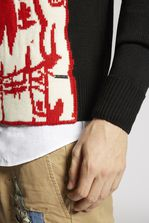 DSQUARED2 Bad Scout Intarsia Wool Knit Pullover Pullover Man