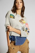 DSQUARED2 Scout Patch Denim Sweatshirt Sweatshirt Woman