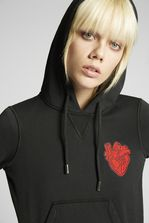 DSQUARED2 Heart Patch Hooded Sweatshirt Sweatshirt Woman