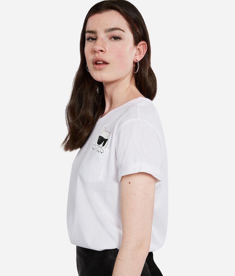 KARL LAGERFELD Ikonik Choupette T-Shirt T-shirt Woman d