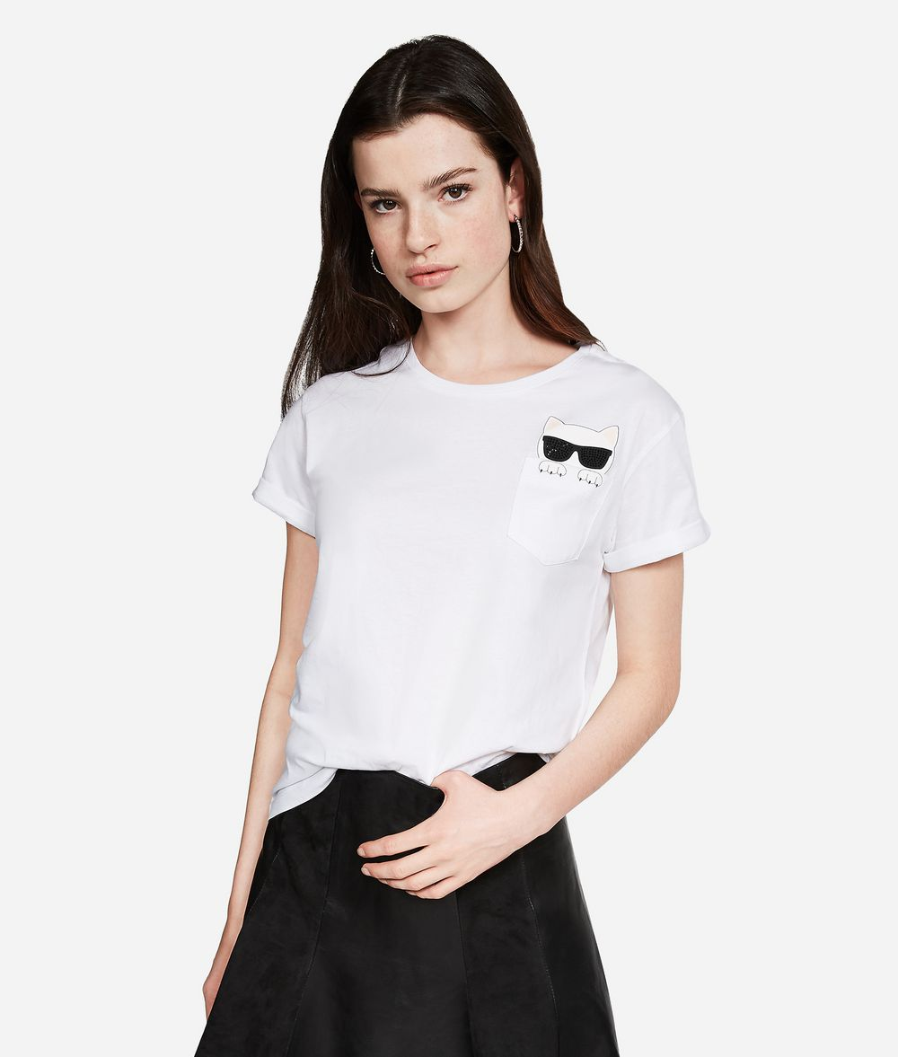 KARL LAGERFELD Ikonik Choupette T-Shirt T-shirt Woman f