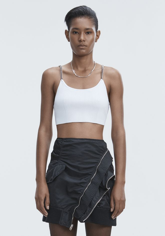 ALEXANDER WANG new-arrivals-ready-to-wear-woman BRA TOP WITH CHAIN STRAPS