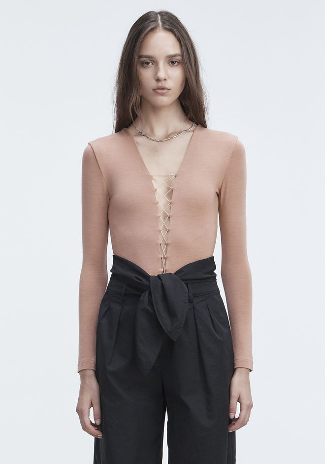 T by ALEXANDER WANG new-arrivals-t-by-alexander-wang-woman LACE UP BODYSUIT