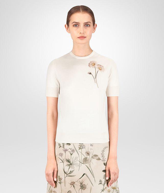 BOTTEGA VENETA MAGLIA IN CACHEMIRE STAMPA BOTANICAL Maglieria o camicia o top Donna fp