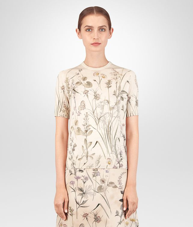 BOTTEGA VENETA BOTANICAL PRINT CASHMERE SWEATER Knitwear or Top or Shirt Woman fp